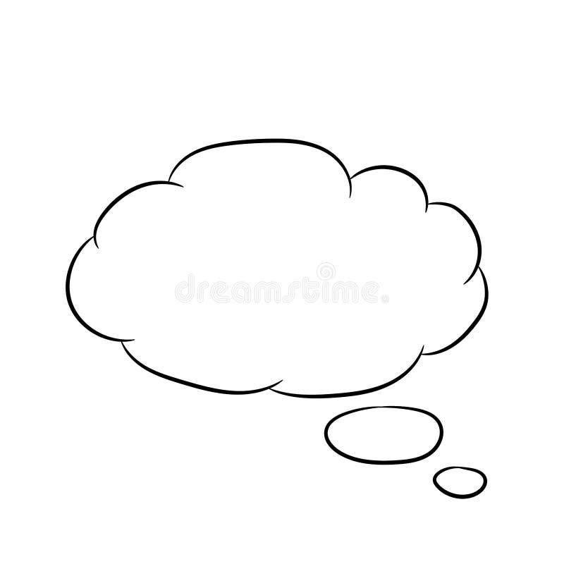Σκεπτόμενο σύννεφο λευκό μυγών των διανυσματικών απεικονίσεων απεικόνιση αποθεμάτων