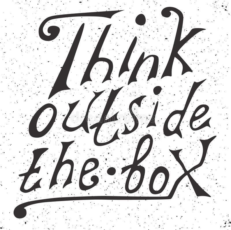 Σκεφτείτε έξω από το κιβώτιο - σχεδιάστε το στοιχείο απεικόνιση αποθεμάτων