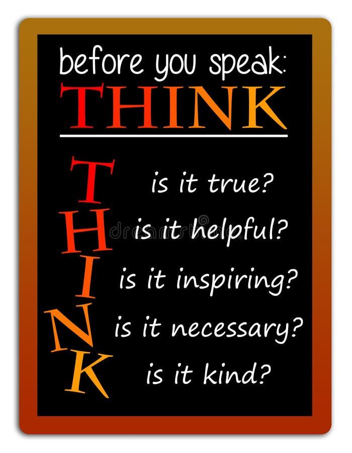 Σκεφτείτε και μιλήστε διανυσματική απεικόνιση