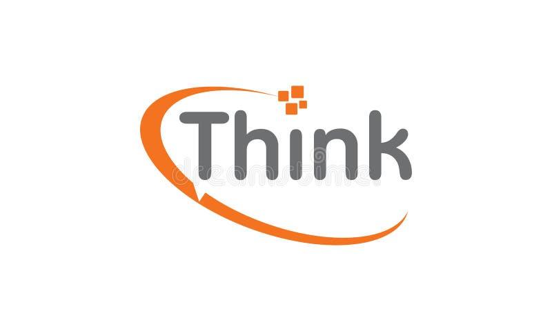 Σκεφτείτε την τεχνολογία Word Apps επικοινωνίας ελεύθερη απεικόνιση δικαιώματος