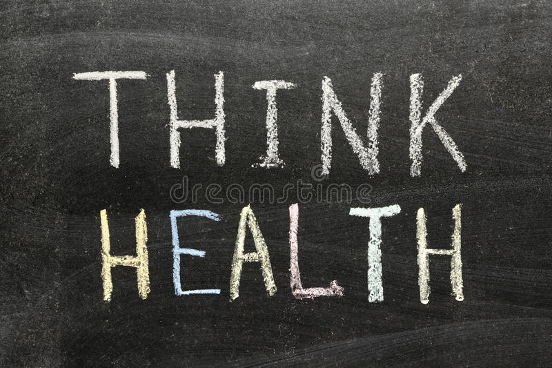 Σκεφτείτε την υγεία στοκ φωτογραφία