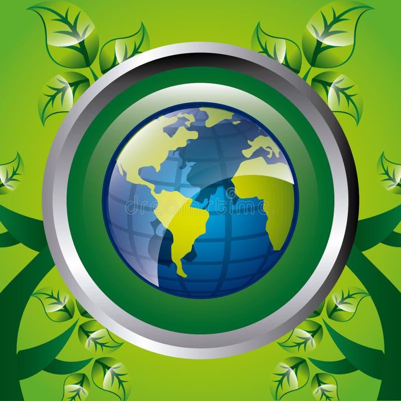 Download Σκεφτείτε το πράσινο σχέδιο Διανυσματική απεικόνιση - εικονογραφία από διάλυμα, περιβαλλοντικός: 62704313