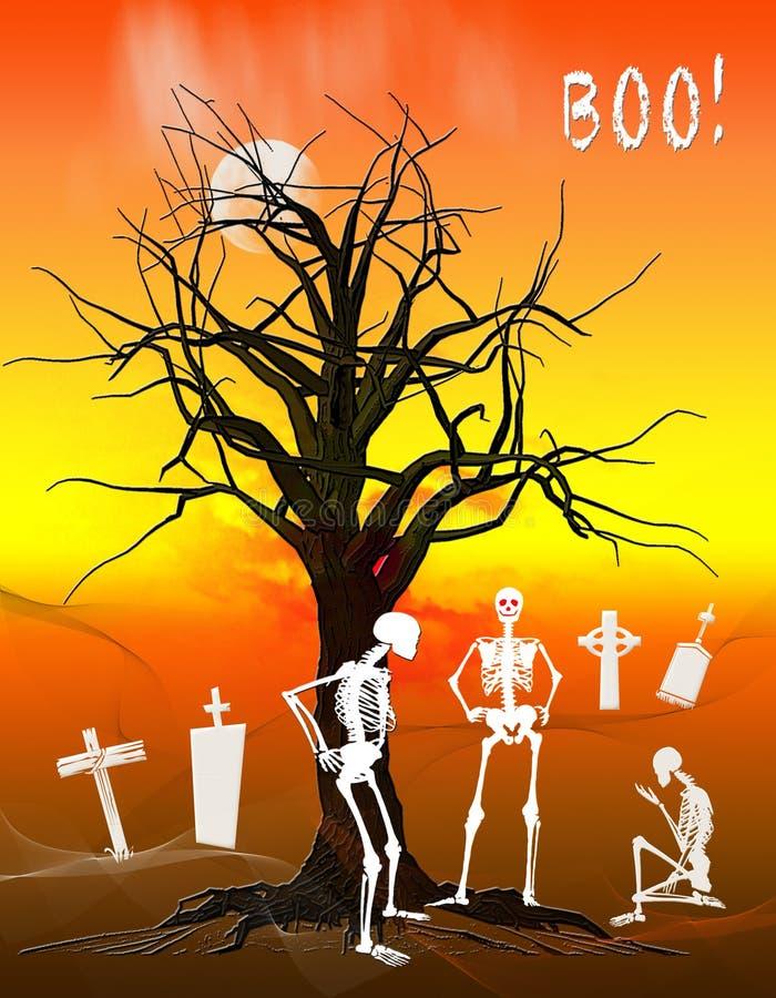 Σκελετοί αποκριών ελεύθερη απεικόνιση δικαιώματος