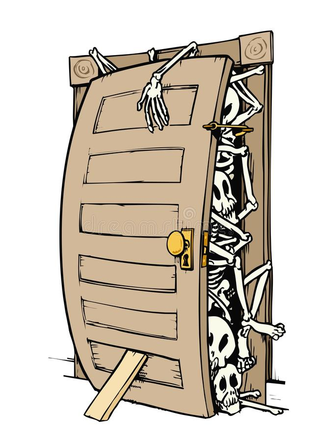 σκελετοί ντουλαπιών ελεύθερη απεικόνιση δικαιώματος