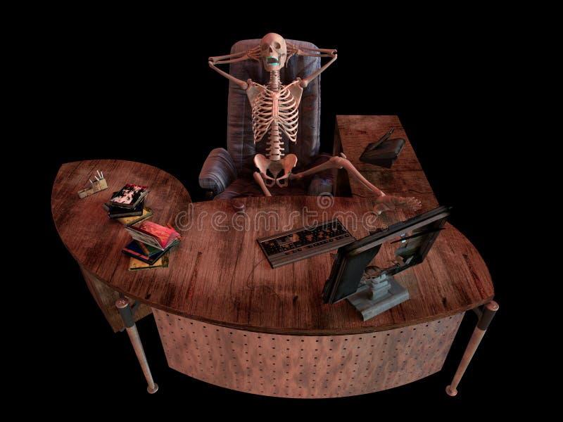 Σκελετός συνεδρίασης στο εσωτερικό γραφείων απεικόνιση αποθεμάτων