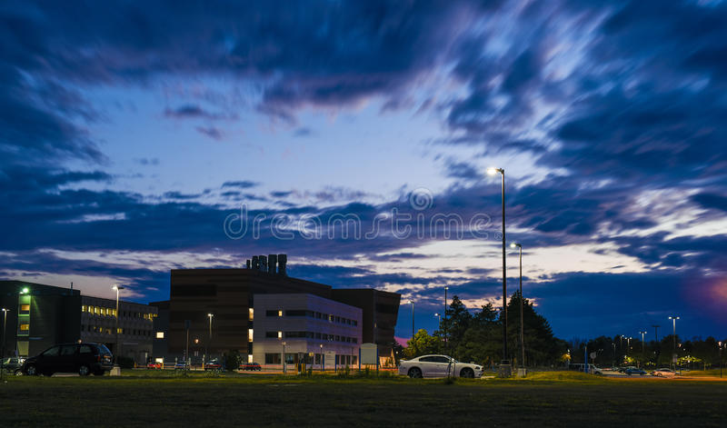 Σκηνές νύχτας του πανεπιστημίου του Buffalo στοκ εικόνες με δικαίωμα ελεύθερης χρήσης