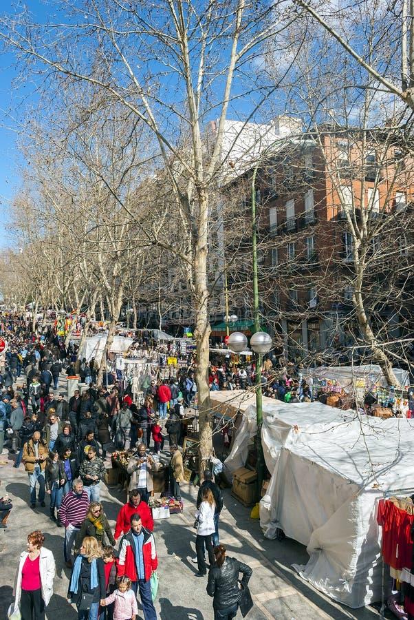 Σκηνή από παζαριών EL Rastro στη Μαδρίτη στοκ φωτογραφίες