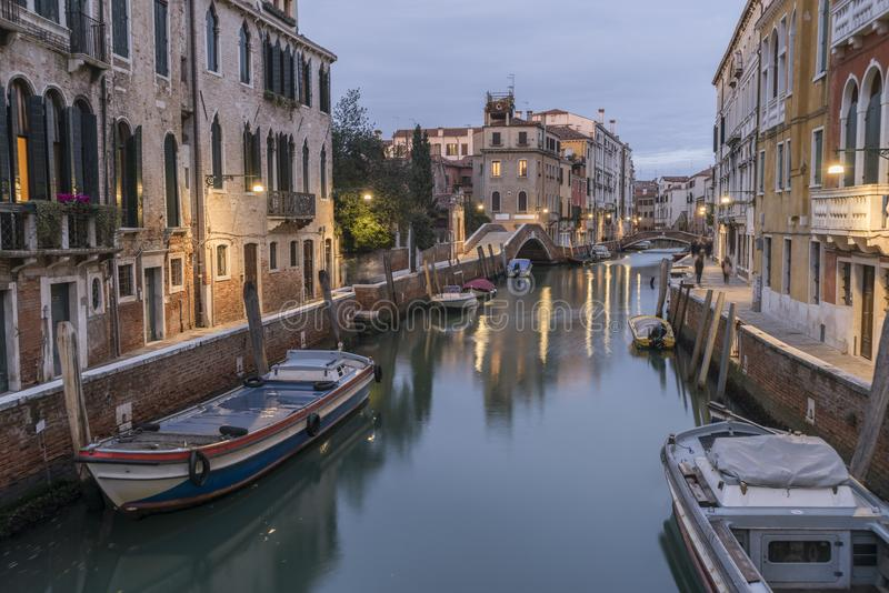 Σκηνή βραδιού της Βενετίας στοκ φωτογραφίες