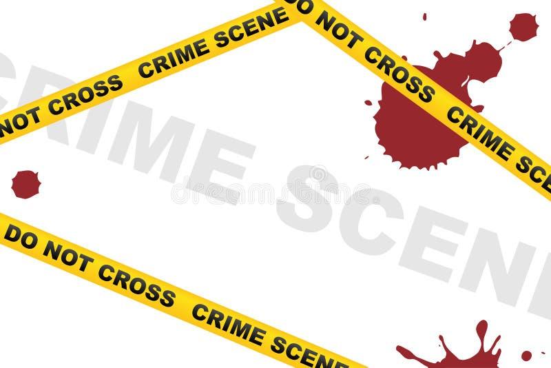 σκηνή εγκλήματος ανασκόπ&e διανυσματική απεικόνιση