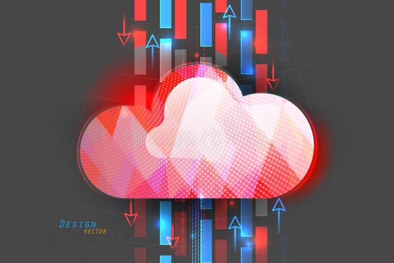 Σκηνή θέσης υπολογισμού σύννεφων διανυσματική απεικόνιση