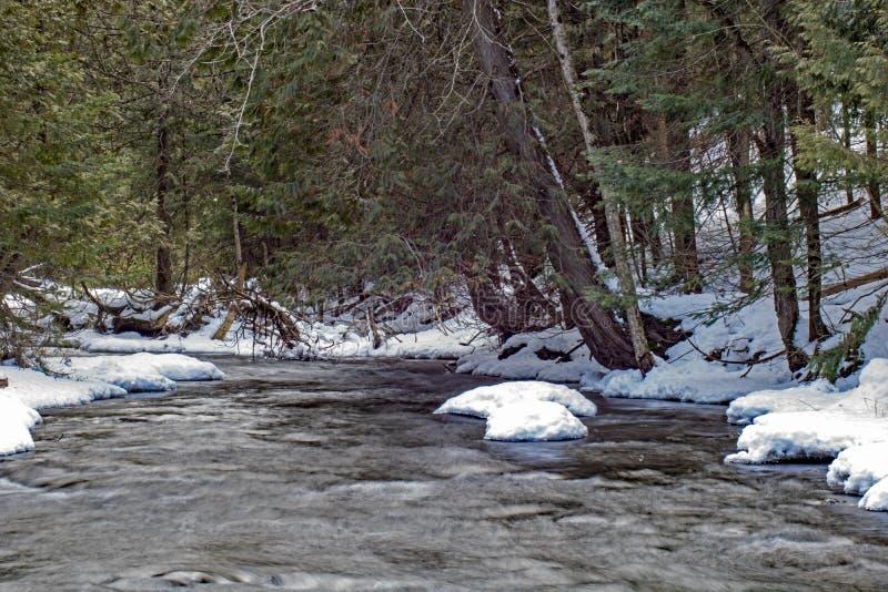 Σκηνή Ιανουαρίου στον ποταμό Boyne στοκ φωτογραφίες