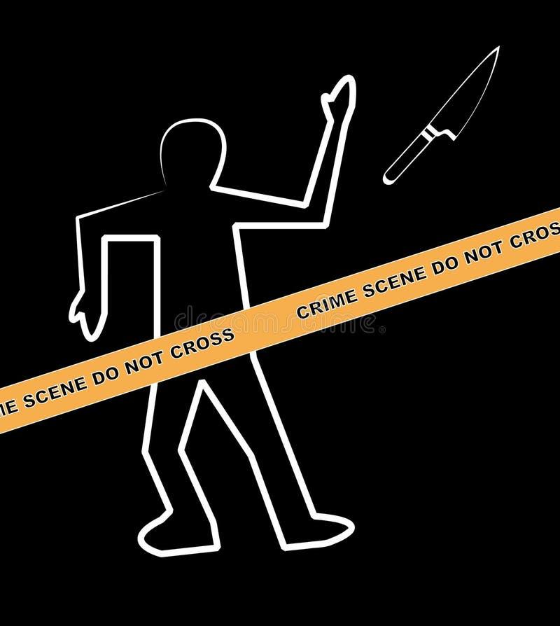 σκηνή μαχαιριών εγκλήματος ελεύθερη απεικόνιση δικαιώματος