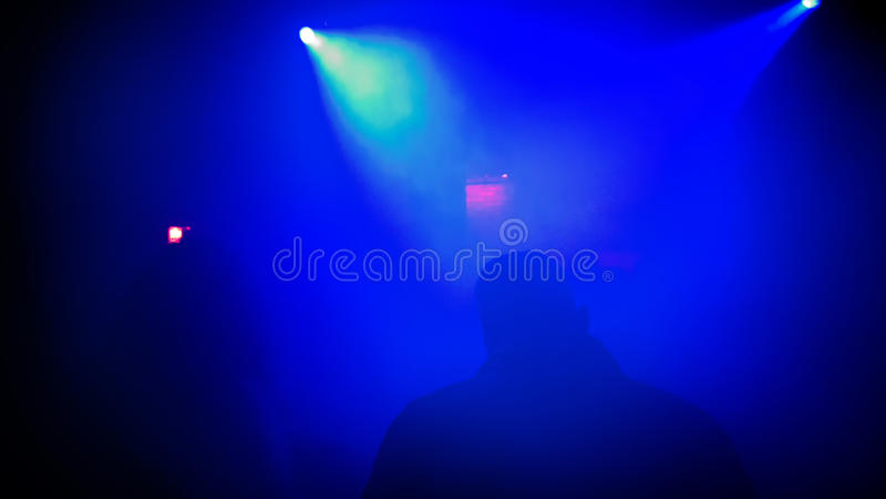 Σκηνή νυχτερινών κέντρων διασκέδασης στοκ εικόνα
