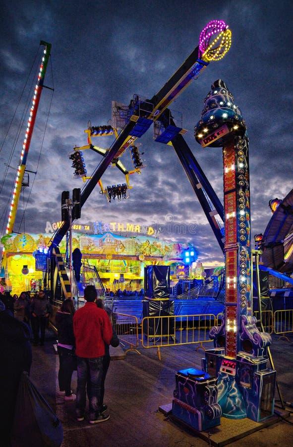 Σκηνή νύχτας καρναβαλιού στοκ φωτογραφίες με δικαίωμα ελεύθερης χρήσης