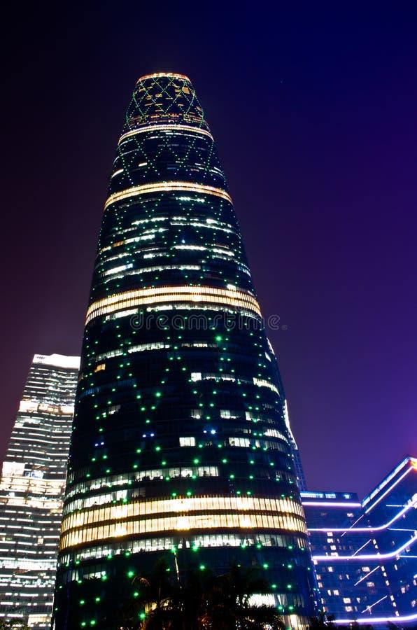 Σκηνή νύχτας στη νέα πόλη Zhujiang guangzhou στοκ εικόνες