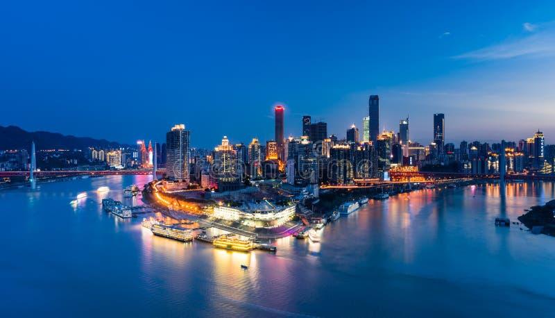 Σκηνή νύχτας της πόλης Chongqing στοκ εικόνα