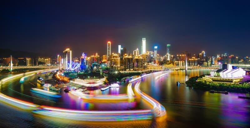 Σκηνή νύχτας της πόλης Chongqing στοκ φωτογραφία με δικαίωμα ελεύθερης χρήσης