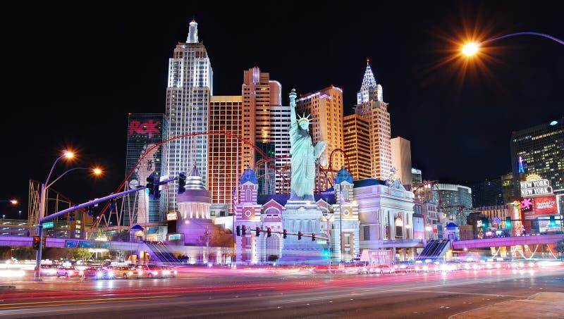 Σκηνή νύχτας του Λας Βέγκας στοκ εικόνα με δικαίωμα ελεύθερης χρήσης