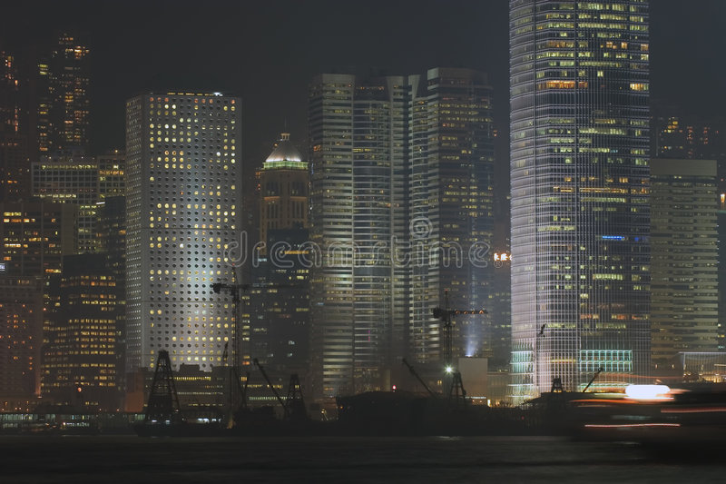 σκηνή νύχτας του λιμενικ&omicr στοκ φωτογραφίες