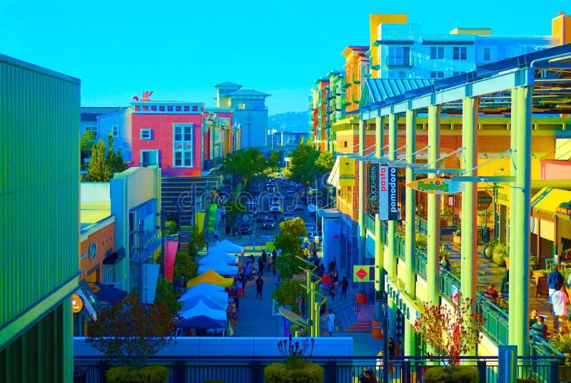 Σκηνή οδών Bay Area του Σαν Φρανσίσκο στοκ εικόνες