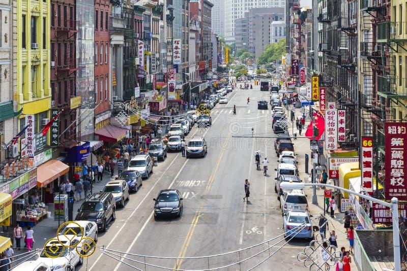 Σκηνή οδών Chinatown στην πόλη της Νέας Υόρκης στοκ εικόνα με δικαίωμα ελεύθερης χρήσης