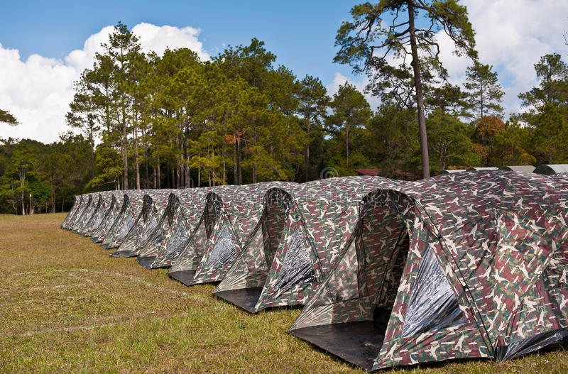 σκηνή πάρκων στρατοπέδευσης εθνική στοκ φωτογραφίες
