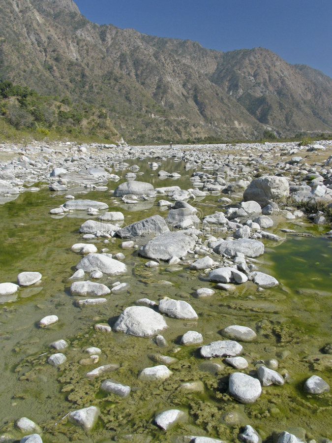 σκηνή ποταμών της Ινδίας στοκ φωτογραφία