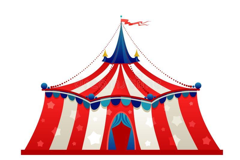 Σκηνή σκηνών τσίρκων διανυσματική απεικόνιση