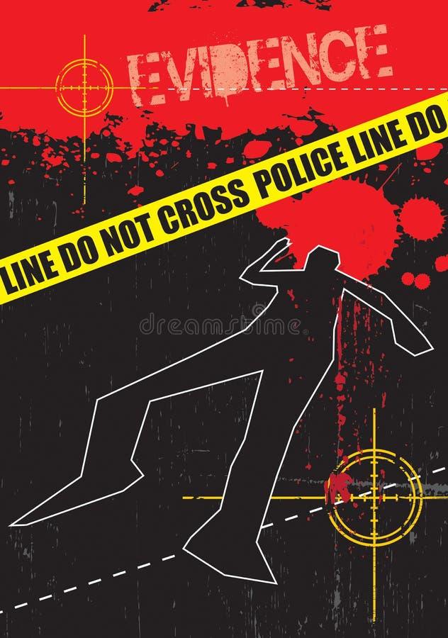 σκηνή στοιχείων εγκλήματ&om διανυσματική απεικόνιση