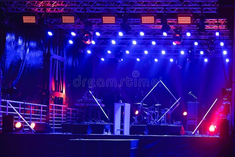 Σκηνή συναυλίας στοκ φωτογραφία