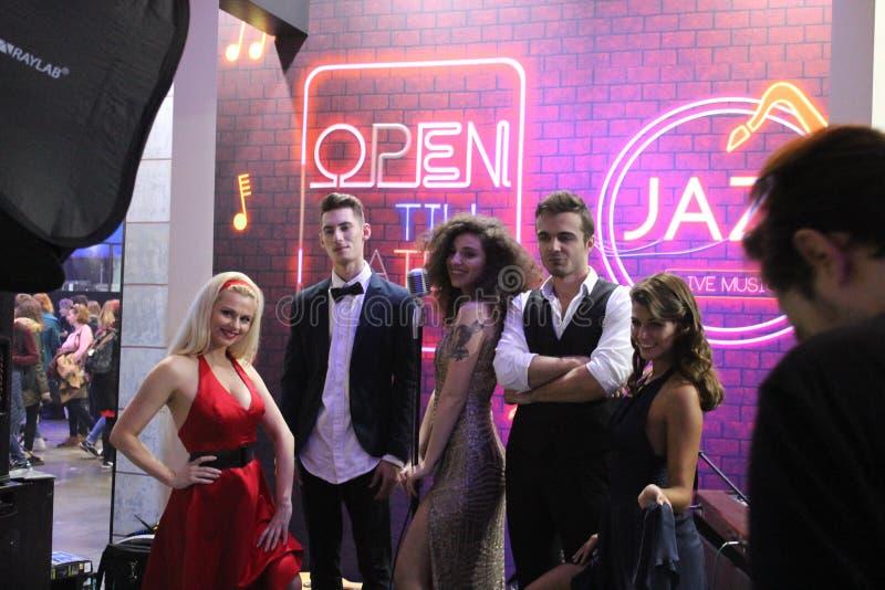 Σκηνή της Jazz στοκ φωτογραφία