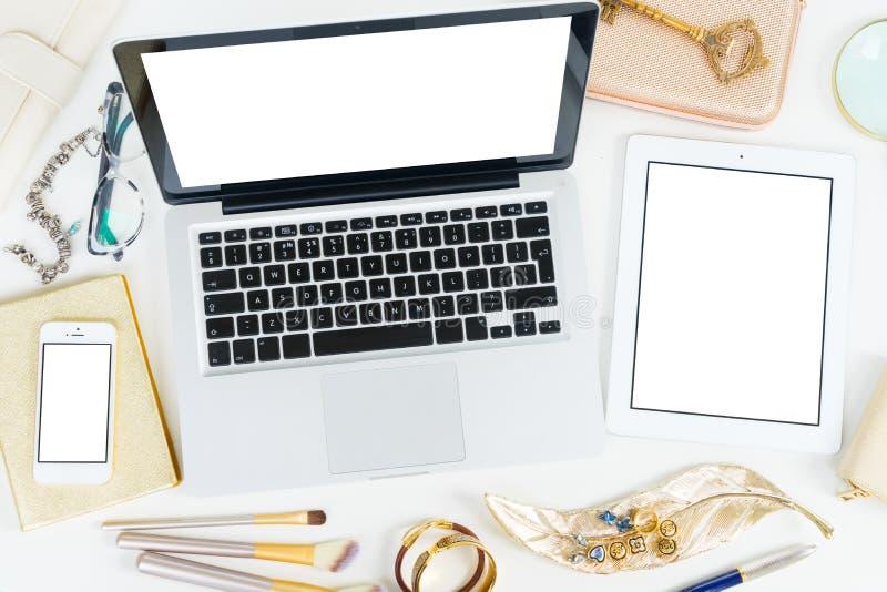Σκηνή υπολογιστών γραφείου Offise στοκ φωτογραφία με δικαίωμα ελεύθερης χρήσης