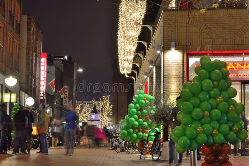 Σκηνή φεστιβάλ σε μια ολλανδική οδό στοκ φωτογραφίες με δικαίωμα ελεύθερης χρήσης