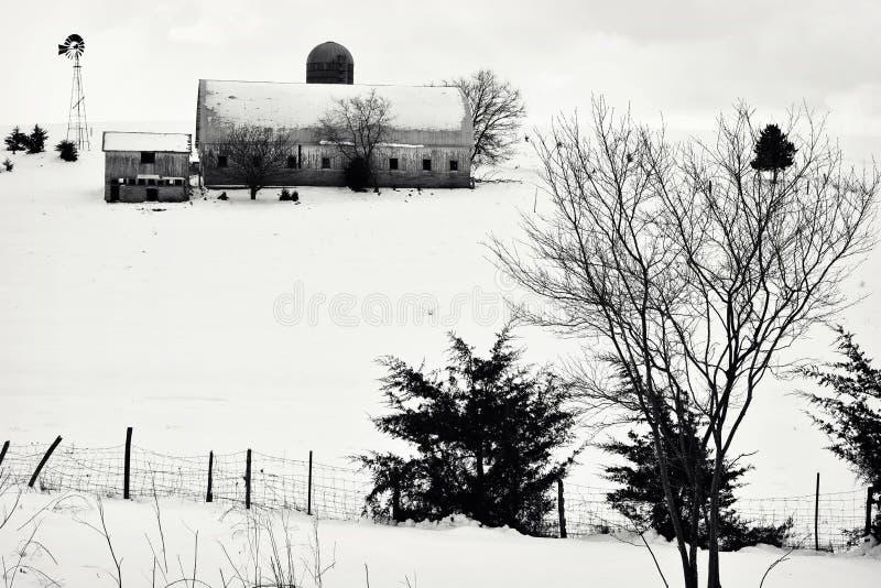 Σκηνή χειμερινών αγροκτημάτων στοκ εικόνες