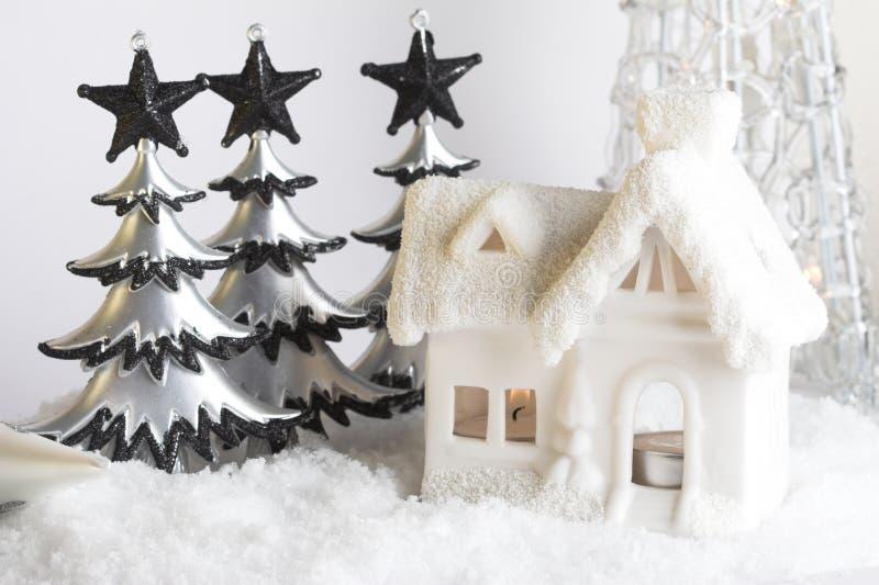 Download σκηνή Χριστουγέννων στοκ εικόνες. εικόνα από candlelight - 1538496