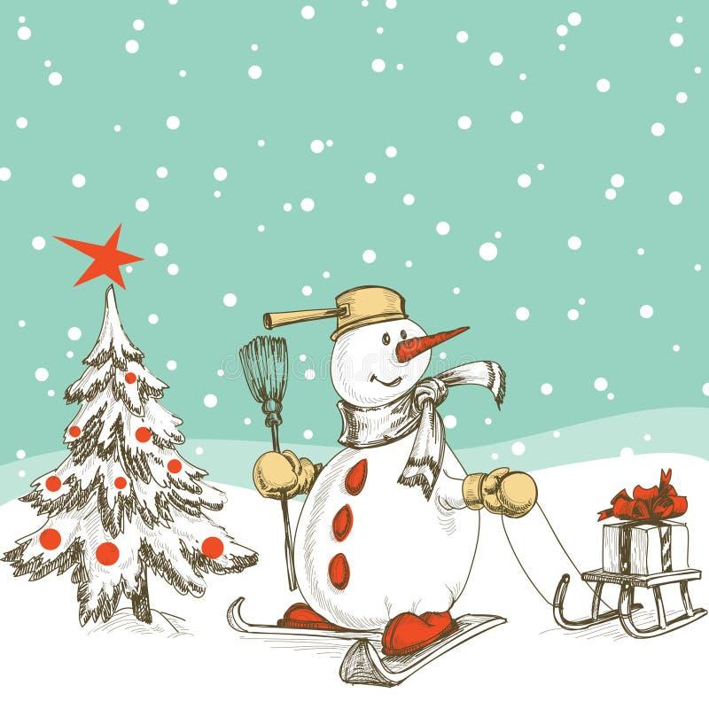 σκηνή Χριστουγέννων διανυσματική απεικόνιση