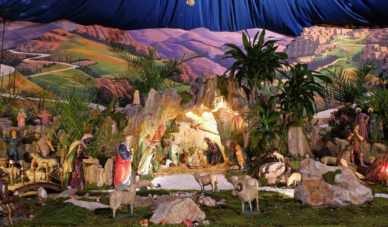 Σκηνή Nativity στοκ εικόνα με δικαίωμα ελεύθερης χρήσης