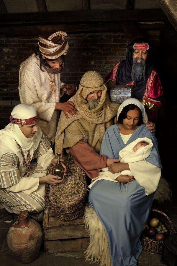 σκηνή nativity Χριστουγέννων στοκ εικόνα