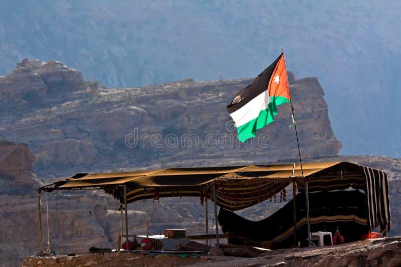 σκηνή PETRA της Ιορδανίας στοκ εικόνες