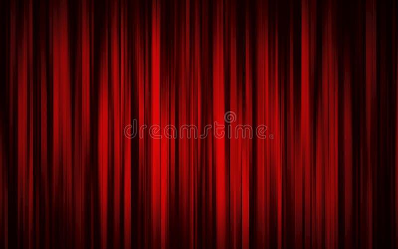σκηνικό θέατρο κουρτινών διανυσματική απεικόνιση