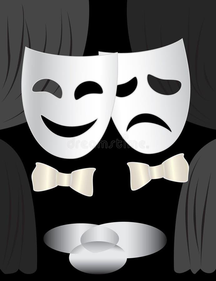 σκηνικό θέατρο μασκών στοκ εικόνες με δικαίωμα ελεύθερης χρήσης