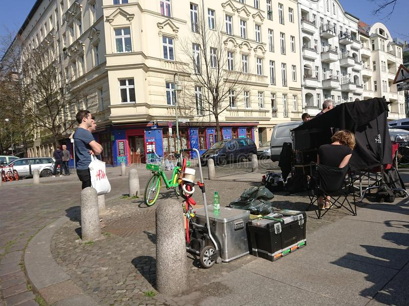 Σκηνικό κινηματογράφου στο Βερολίνο, υπαίθρια στοκ φωτογραφία με δικαίωμα ελεύθερης χρήσης