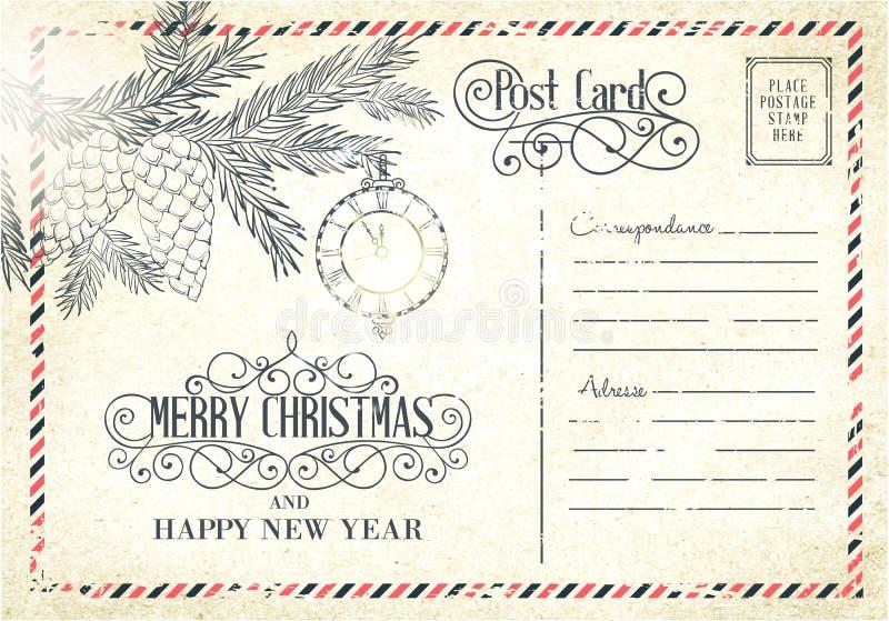 Σκηνικό της ταχυδρομικής κάρτας διανυσματική απεικόνιση