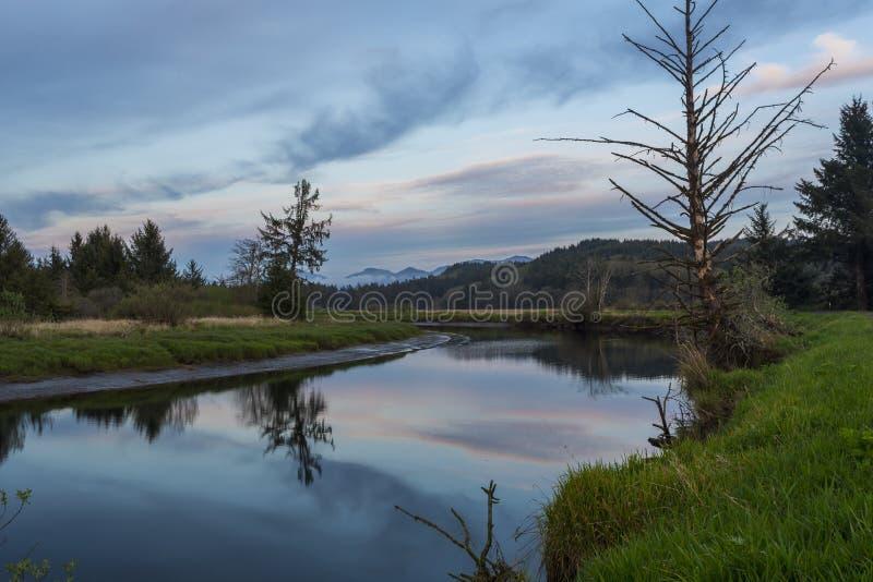 Σκηνικό τοπίο ποταμών με αντανάκλαση στοκ φωτογραφία με δικαίωμα ελεύθερης χρήσης