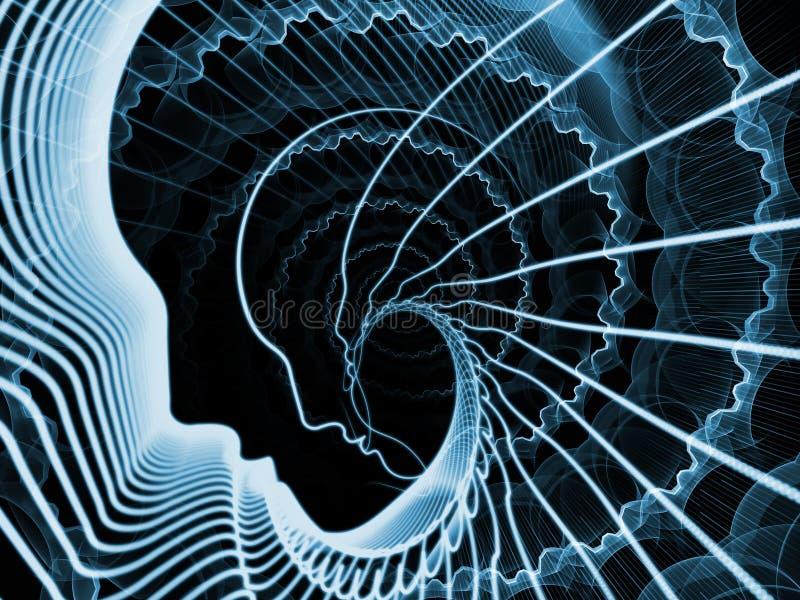 Σκηνικό ψυχής και μυαλού διανυσματική απεικόνιση