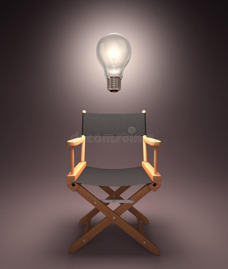 Σκηνοθέτης καταιγισμού ιδεών Στοκ Εικόνες
