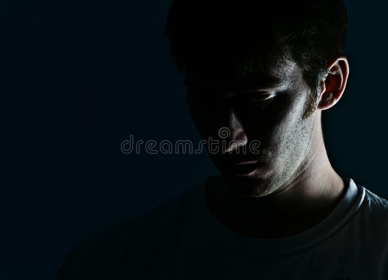 σκιά ατόμων s προσώπου στοκ φωτογραφία με δικαίωμα ελεύθερης χρήσης