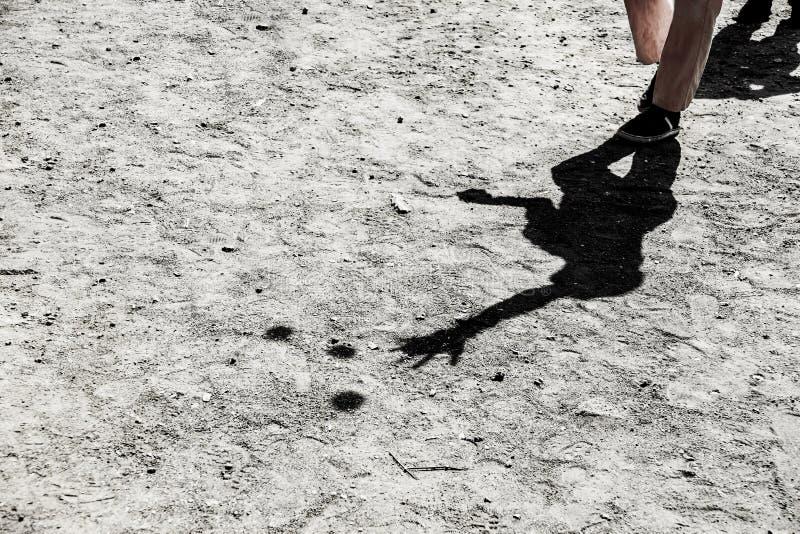 Σκιά ενός ζογκλέρ στοκ εικόνες με δικαίωμα ελεύθερης χρήσης
