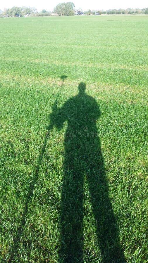Σκιά επιθεωρητών εδάφους στοκ εικόνα