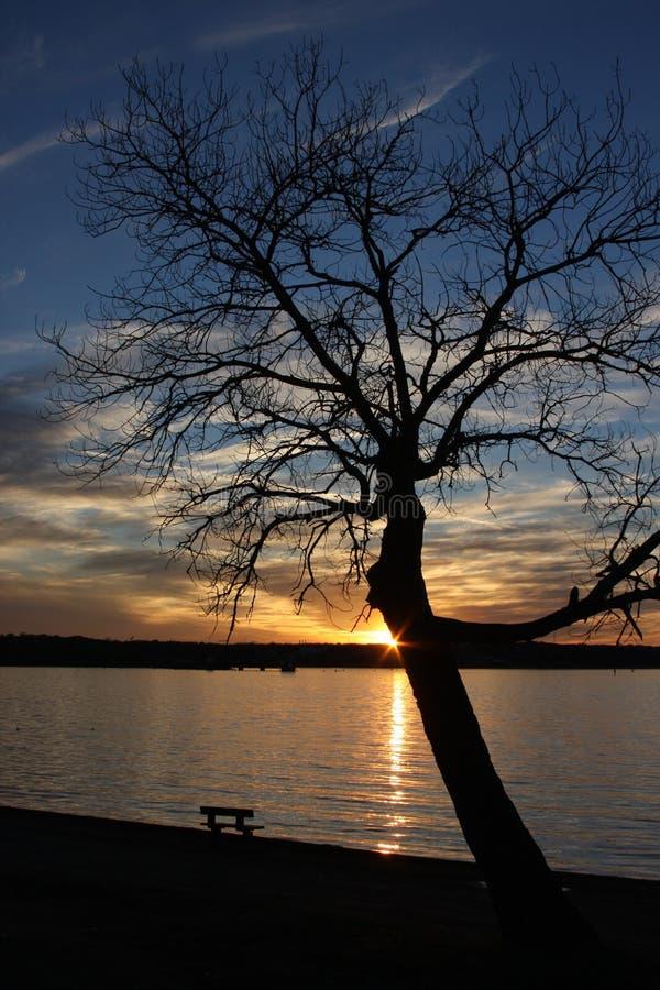 Σκιά ηλιοβασιλέματος στοκ φωτογραφίες με δικαίωμα ελεύθερης χρήσης